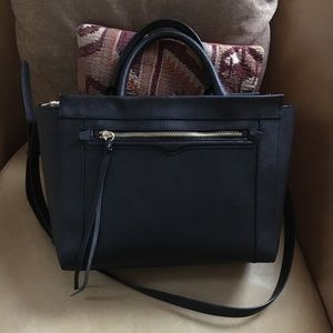 Rebecca Minkoff Black Leather Satchel Tote Bag